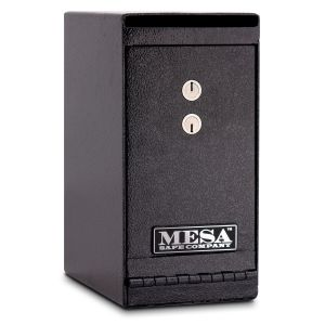Mesa Safe MUC1K Undercounter Depository Safe is equipped with a dual key lock for managers