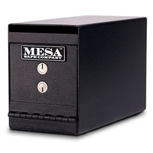 Mesa Safe MUC2K Undercounter Depository Safe is equipped with a dual key lock for managers