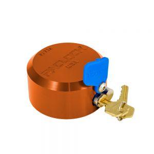 PACLOCK Flat-Back Hockey Puck Locks, Aluminum, 2173A Orange
