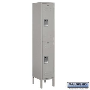 Salsbury 5' Double Tier Standard Metal Locker, 12