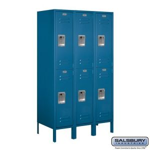 Salsbury 5' Double Tier Standard Metal Locker, 18
