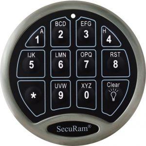 SecuRam SafeLogic Basic Electronic Safe Keypad, Backlit