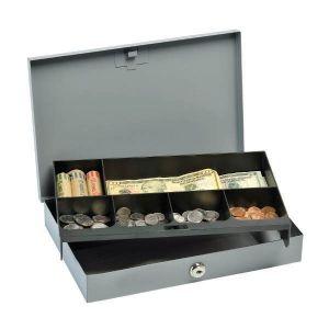 STEELMASTER Low-Profile Cash Box w/ Security Lock