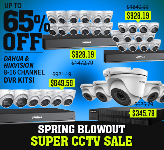Select CCTV Kits up to 65% OFF