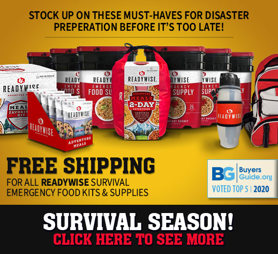 Stock up now before disaster strikes - Free Shipping!